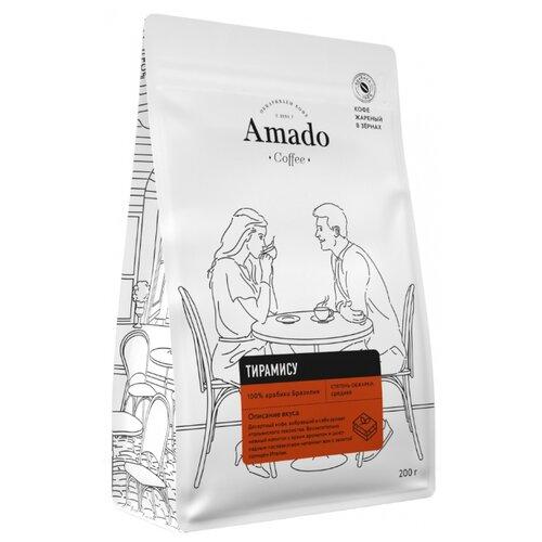 Фото - Кофе в зернах Amado Тирамису, 200 г кофе в зернах amado вишня 200 г