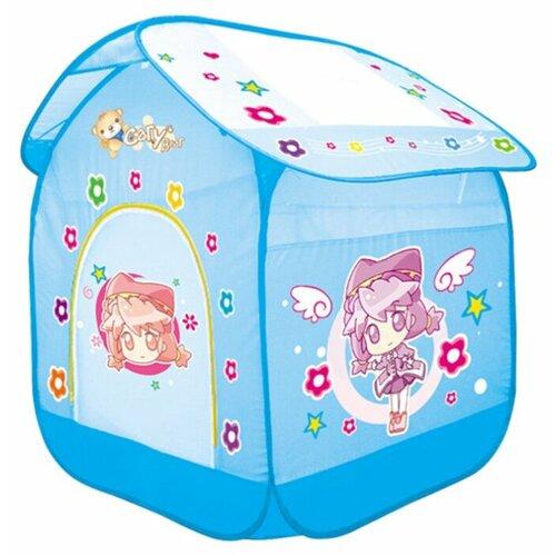 Купить Палатка Yongjia Toys Ангелочек 889-64B/889-65B голубой, Игровые домики и палатки
