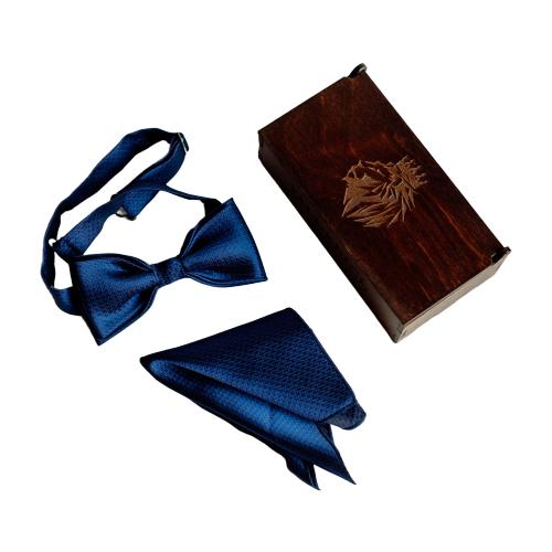Комплект из 2 предметов Valderice галстук-бабочка и платок VLD0375/0045/0404 синий