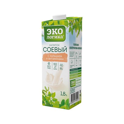 Соевый напиток Экологика с Кальцием и Витаминами 1.8%, 1 л
