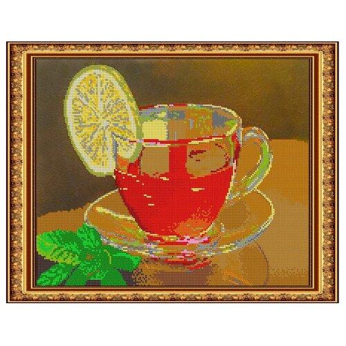Светлица набор для вышивания бисером Чашка чая 39,1 х 31,2 см, бисер Чехия (365)