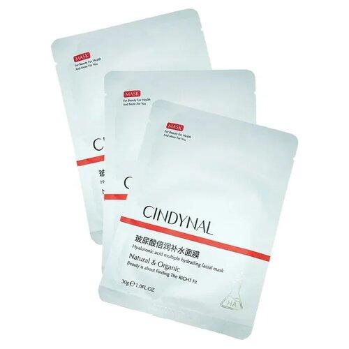 Купить CINDYNAL Тонизирующая маска для лица с экстрактом портулака и гиалуроновой кислотой, 30 г, 3 шт.