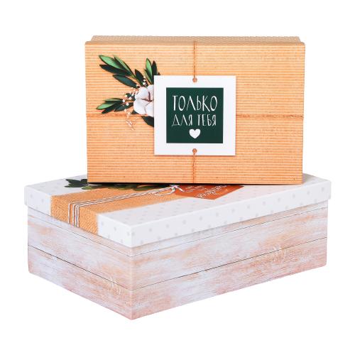Фото - Набор подарочных коробок Дарите счастье Повод для радости, 2 шт. бежевый/белый набор подарочных коробок дарите счастье универсальный 10 шт бежевый белый черный