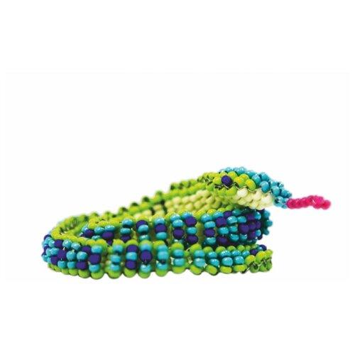 Купить Hobby & Pro Набор для бисероплетения Змейка БП-120 синий/зеленый, Бисер и бисероплетение