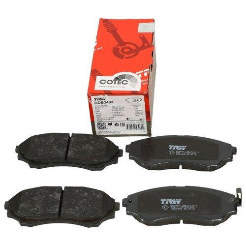 Фото - Дисковые тормозные колодки передние TRW GDB3403 для Ford Ranger, Mazda B-Series, Mazda BT-50 (4 шт.) дисковые тормозные колодки передние ferodo fdb4446 для mazda 3 mazda cx 3 4 шт