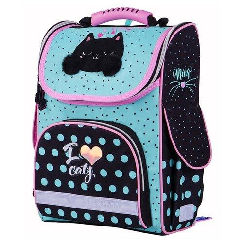 Купить Berlingo ранец Standard I love cats, голубой/черный/розовый, Рюкзаки, ранцы