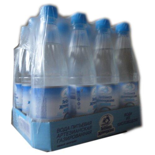 цена на Вода питьевая Ледяная жемчужина газированная ПЭТ, 12 шт. по 0.5 л