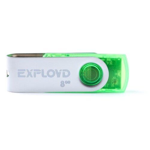 Купить Флешка EXPLOYD 530 8GB green