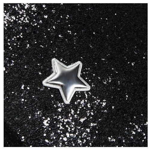 Кожа искусственная Арт Узор для пэчворка с крупными блестками 350 г/м, 70 x 50 см звездная ночь