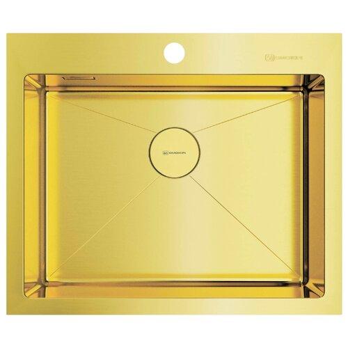 Фото - Врезная кухонная мойка 59 см OMOIKIRI Akisame 59-LG светлое золото врезная кухонная мойка 46 см omoikiri akisame 46 lg 4973081 светлое золото
