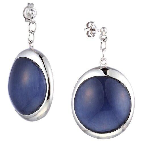 JV Серьги со стеклом из серебра SE0325-US-001-WG jv кольцо с ювелирным стеклом из серебра b3198 us 011 wg размер 17 5