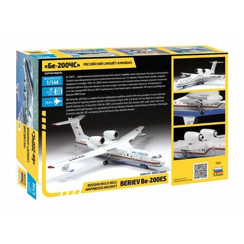 Купить Сборная модель ZVEZDA Российский самолет-амфибия Бе-200 (7034) 1:144, Сборные модели