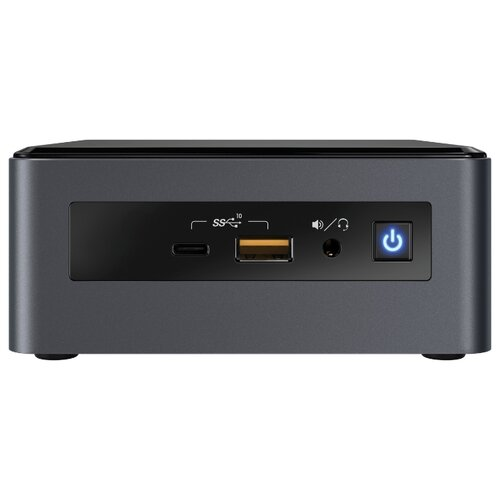 Неттоп Intel NUC 8 Mainstream-G mini (NUC8i5INH) Intel Core i5-8265U/8 ГБ/256 ГБ SSD/AMD Radeon 540X/Windows 10 Home серый/черный