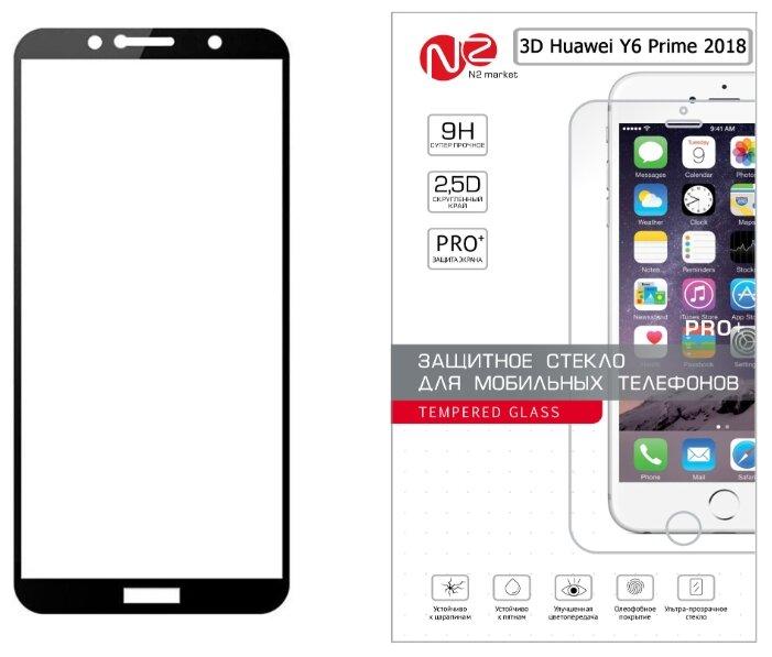 Защитное стекло N2 для Huawei Y6 Prime 2018 черный фото 1