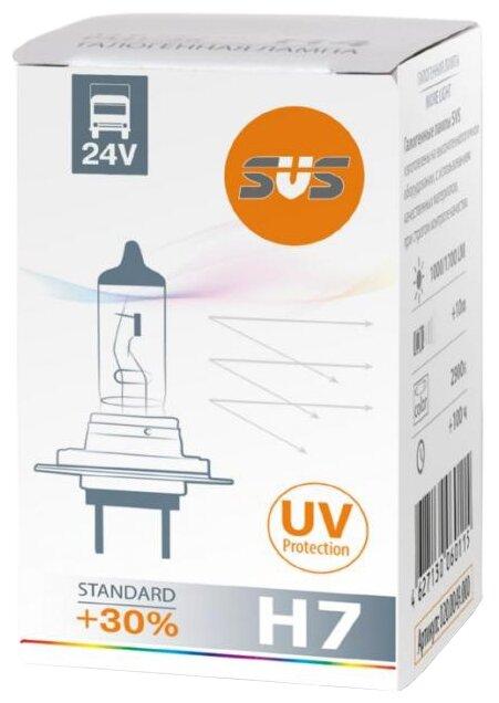 Лампа автомобильная галогенная SVS Standard +30% 24V H7 70W 1 шт.