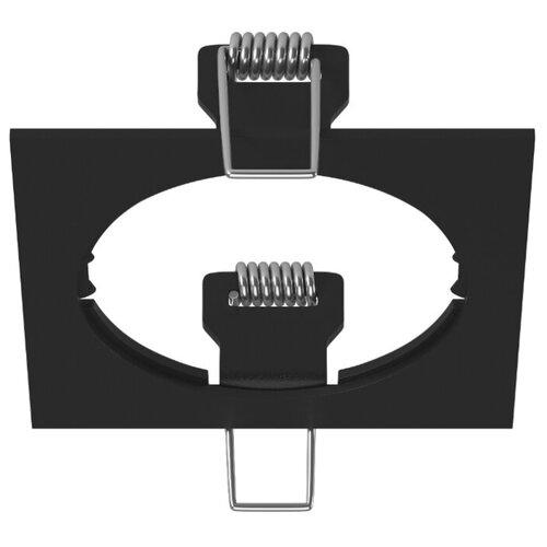 Декоративная рамка Lightstar Intero 16 Quadro 217516 / 217517 / 217519 на 1 светильник черный встраиваемый светильник lightstar intero 16 i636090609