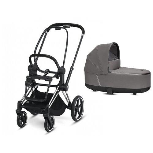 Купить Коляска для новорожденных Cybex Priam III (люлька) manhattan grey/chrome/black, цвет шасси: серебристый, Коляски
