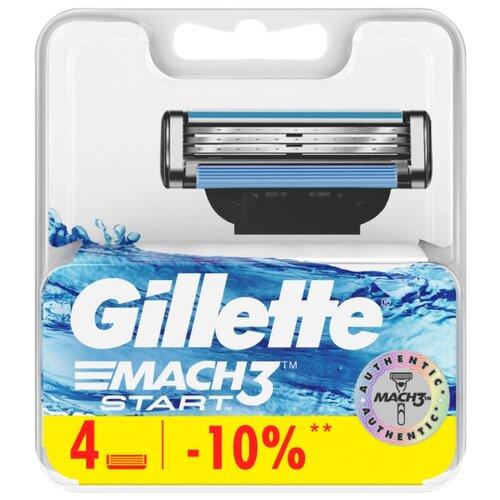 Купить Сменные кассеты Gillette Mach3 Start, 4 шт.