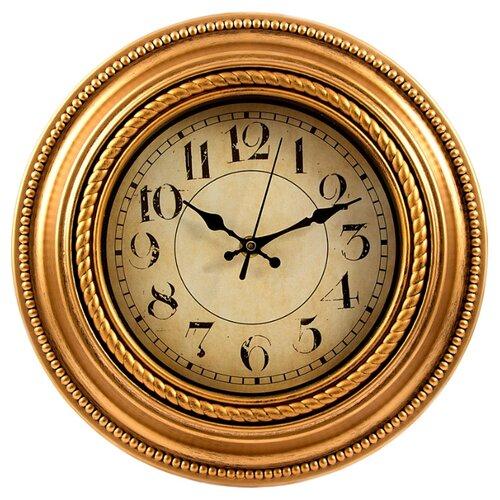 Часы настенные кварцевые Viron 222448 золотистый