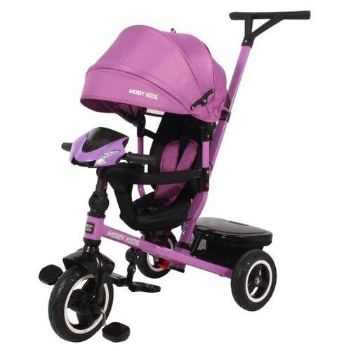 Купить Трехколесный велосипед Moby Kids Rider 360° 10x8 AIR Car фиолетовый, Трехколесные велосипеды
