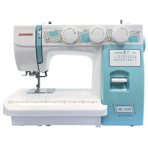 Швейная машина Janome SE 7519, белый/голубой