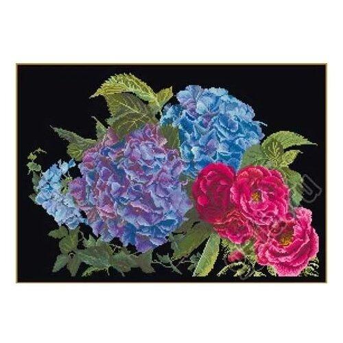 Thea Gouverneur Набор для вышивания Гортензия и роза 39 х 25 см (442.05) thea gouverneur набор для вышивания санкт петербург 50 х 79 см 430а