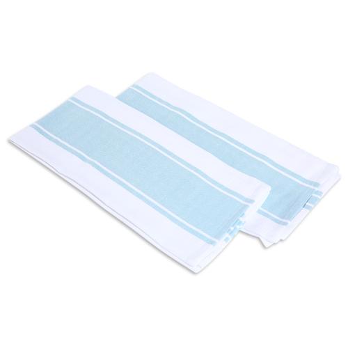 хозяйственные товары dosh home набор полотенец atira 6 шт Набор полотенец, DOSH   HOME, ATIRA, голубой, белый, 2шт Бело-голубой
