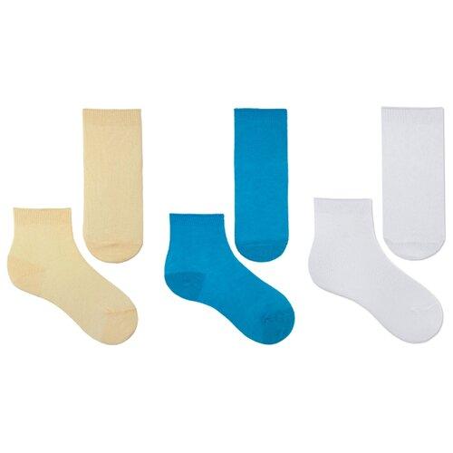 Купить Носки НАШЕ комплект 3 пары размер 18 (16-18), белый/персик/бирюза