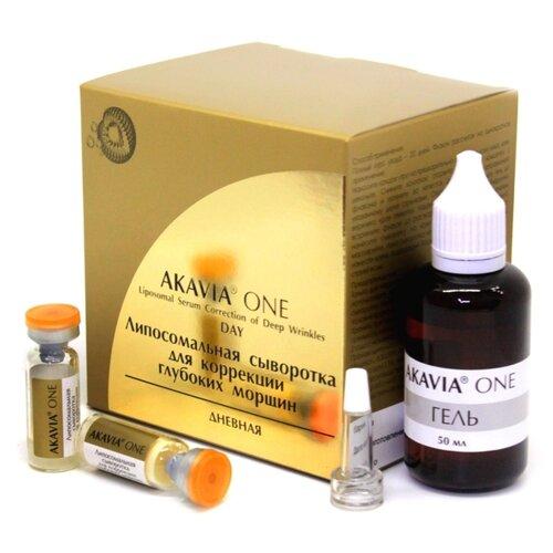 Akavia One Липосомальная сыворотка для коррекции глубоких морщин Дневная + гель