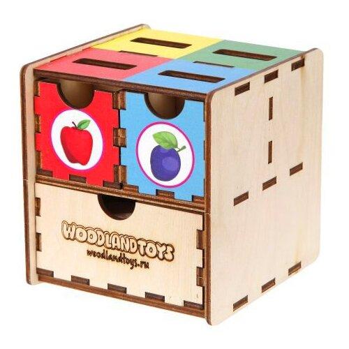 Сортер Woodland Комодик куб Фрукты 119105 сортер red box активный куб