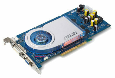 Видеокарта ASUS GeForce 6800 GT 350Mhz AGP 128Mb 700Mhz 256 bit DVI TV