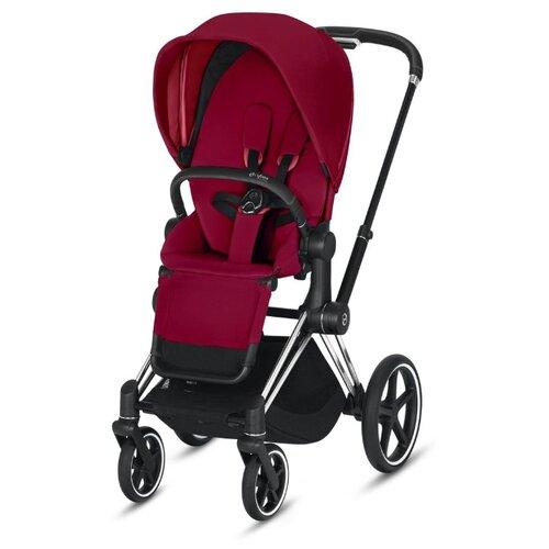 Универсальная коляска Cybex Priam III (2 в 1) true red/chrome/black, цвет шасси: серебристый
