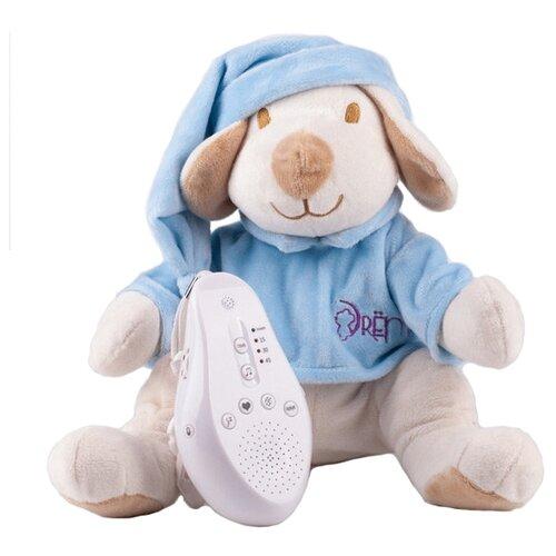 Фото - Мягкая игрушка Drёma BabyDou Собачка голубая с белым и розовым шумом комфортеры drema babydou медведь с белым и розовым шумом 20 см