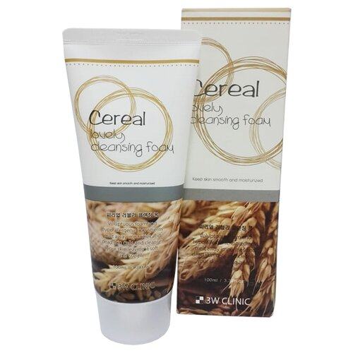 Купить 3W Clinic пенка для умывания с зерновыми экстрактами Cereal Lovely Cleansing Foam, 100 мл