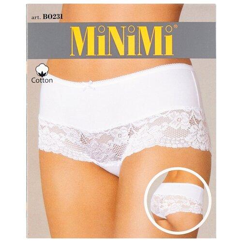 MiNiMi Трусы Трусы-шорты средней посадки с кружевом, размер 48/L, телесный (nudo) трусы шорты lowry