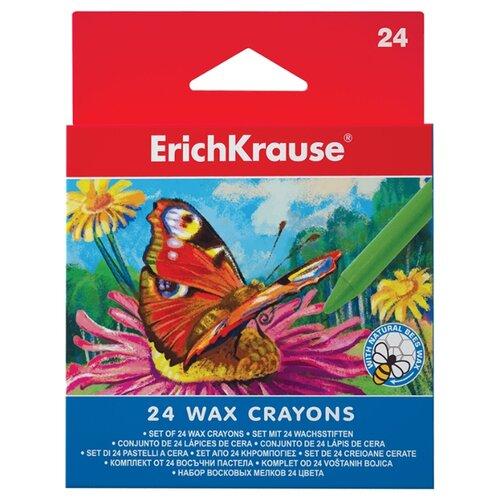 Купить ErichKrause Восковые мелки 24 цвета 34931, Пастель и мелки