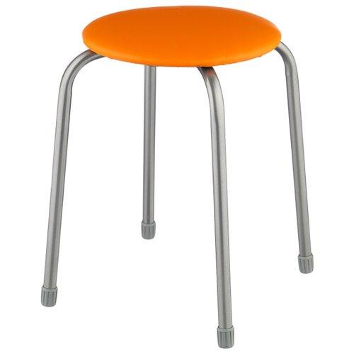 Табурет Nika Классика 2 (ТК02), металл/искусственная кожа, цвет: оранжевый