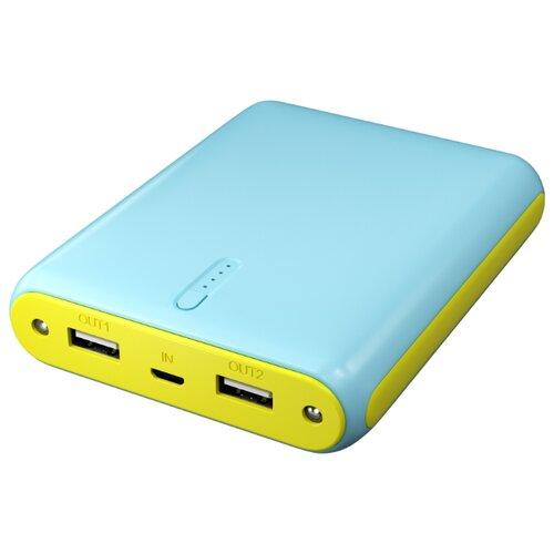 Аккумулятор Red Line V10, голубой/желтый аккумулятор red line j03 3000mah silver