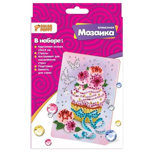 Купить Color Puppy Набор алмазной вышивки Пирожное (70013) 10х15 см, Алмазная вышивка