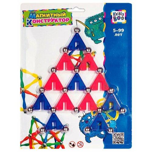 Купить Магнитный конструктор Kribly Boo Волшебное притяжение 1195 Треугольники, Конструкторы