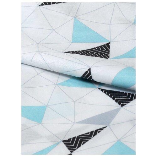 Ткань Amarobaby перкаль премиум софт (хлопок) 150*150 см (Треугольники)
