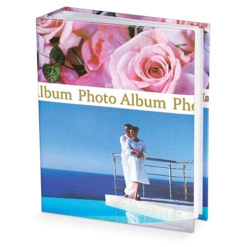Фотоальбом BRAUBERG Романтика (390675), 304 фото, для формата 10 х 15, голубой/розовый
