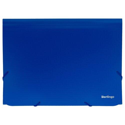Купить Berlingo Папка на резинке Standard А4, 13 отделений, пластик 700 мкм синий, Файлы и папки