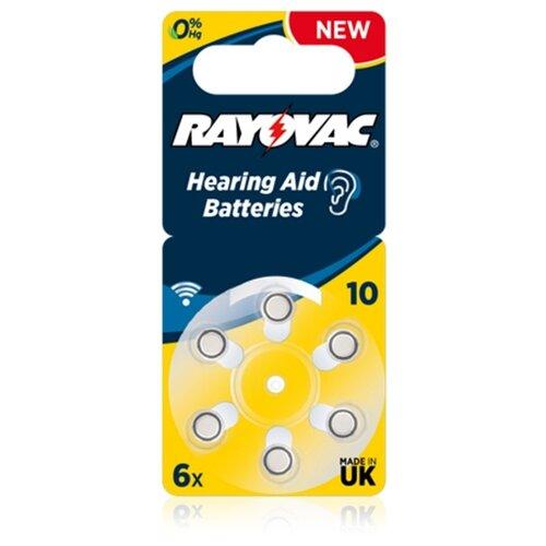 Фото - Батарейка RAYOVAC 10, 6 шт. батарейка ansmann hearing aid 10 6 шт