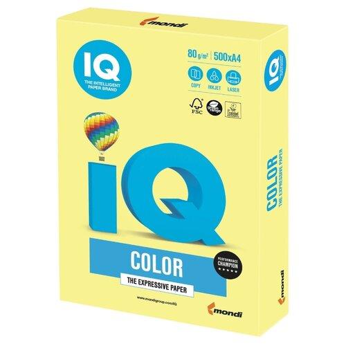 Фото - Бумага IQ Color A4 80 г/м² 500 лист. лимонно-желтый ZG34 1 шт. бумага iq color а4 color 120 г м2 250 лист кораллово красный co44 1 шт