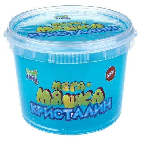 Купить Лизун 1 TOY Мега-Мяшка Кристалин синий, Игрушки-антистресс