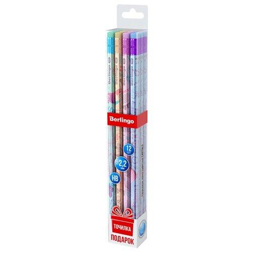 Купить Berlingo Набор чернографитных карандашей 4 дизайна Capitals 12 шт (BP00960_12), Карандаши