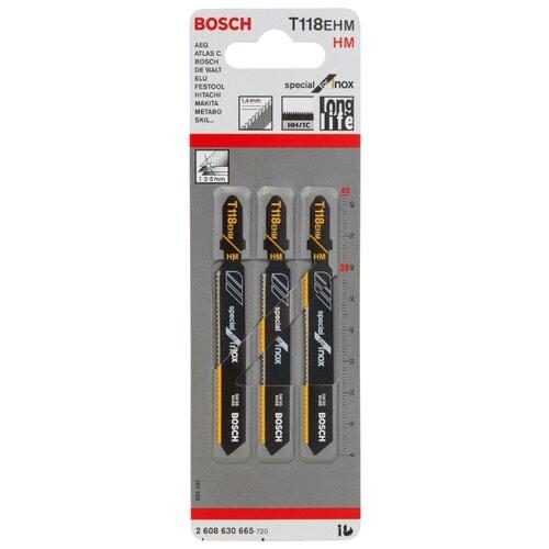 Набор пилок для электролобзика BOSCH 2608630665 3 шт. набор пилок для ручного лобзика bosch 2608636335 3 шт