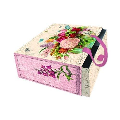 Коробка подарочная Гортензия, 16х16х8 см
