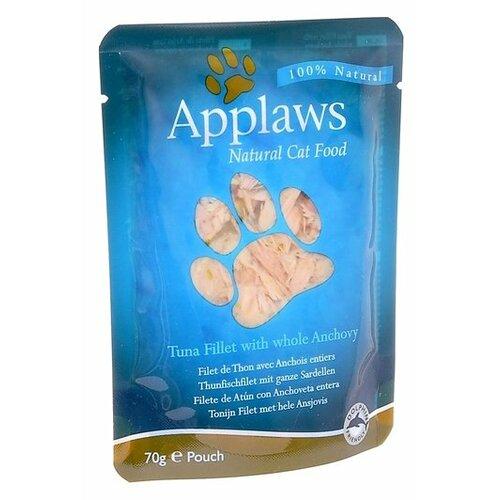 Влажный корм для кошек Applaws с тунцом, с анчоусом 12шт. х 70 г